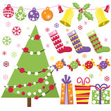Retro Kerstmisreeks Royalty-vrije Stock Afbeelding