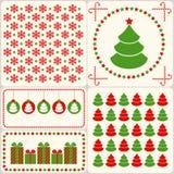 Retro Kerstmisreeks. Stock Foto's
