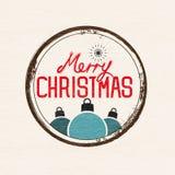 Retro Kerstmisteken vector illustratie