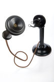 Retro- Kerzenhalter-Telefon Lizenzfreies Stockfoto