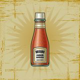 Retro Ketchup Bottle Stock Images