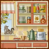 Retro keuken Stock Afbeelding