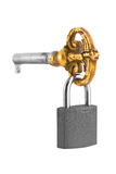 Retro key and lock Royalty Free Stock Image