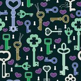 Retro key pattern Stock Photography