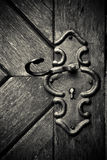 Retro keyhole in old wooden door Royalty Free Stock Photography