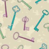 Retro keys background Royalty Free Stock Photos
