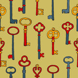 Retro keys colorful seamless pattern Royalty Free Stock Photography