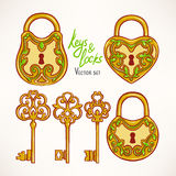 Retro keys and locks Royalty Free Stock Images