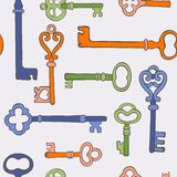 Retro keys stylish background Stock Image