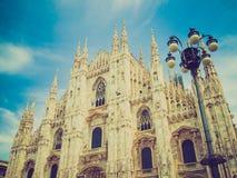 Retro kijk Duomo, Milaan royalty-vrije stock fotografie