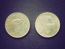Retro kijk Euro muntstuk Royalty-vrije Stock Foto
