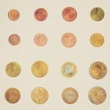 Retro kijk Euro muntstuk - Frankrijk Royalty-vrije Stock Foto's