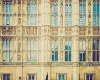 Retro kijk Huizen van het Parlement Stock Afbeeldingen