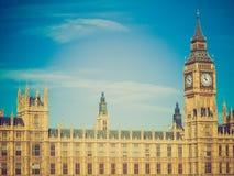 Retro kijk Huizen van het Parlement Stock Afbeelding