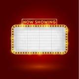 Retro kino znak Zdjęcie Royalty Free