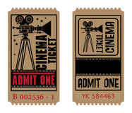 Retro kinowy bilet Obraz Stock