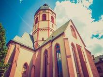 Retro- Kirche Mainz Blick St. Stephan Lizenzfreie Stockbilder