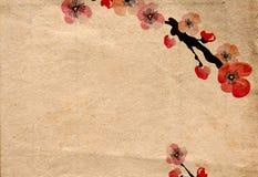 Retro- Kirschblüte Stockfoto