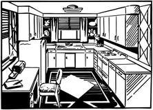Free Retro Kitchen 2 Stock Photo - 42095280