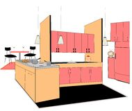 Retro kitchen Royalty Free Stock Photography