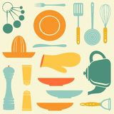 Retro kitchen collection Stock Photo