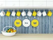 Retro kitchen design. Stock Images