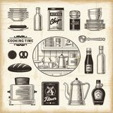 Retro kitchen set Stock Photo