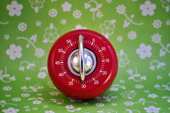 Retro kitchen timer Royalty Free Stock Image