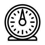 Retro kitchen timer icon, outline style stock illustration