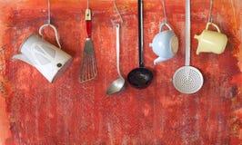 Retro kitchen utensils Stock Photo