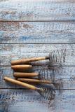 Retro kitchen utensils whisks Stock Images