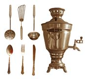 Retro kitchenware set Stock Images