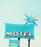 Retro kitsch motel sign. Photo of American retro kitsch motel sign Royalty Free Stock Image