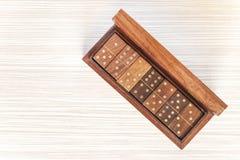 Retro klassieke houten domino's Stock Foto