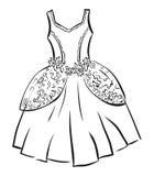 Retro- Kleid Stockfotografie