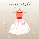 Retro- Kleid Lizenzfreie Stockbilder