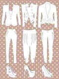 Retro- Kleidung für Frau Stockfoto