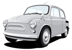 Retro kleine auto Royalty-vrije Stock Fotografie