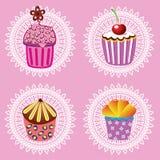 Retro- kleine Kuchen lizenzfreie abbildung
