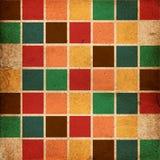 Retro kleur blokkeert patroon Stock Fotografie