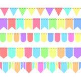 5 Retro Kleur van slingersvlaggen, voorraad vectorillustratie royalty-vrije illustratie