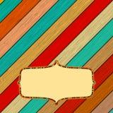 Retro kleuren houten frame met frame. + EPS8 Royalty-vrije Stock Afbeelding