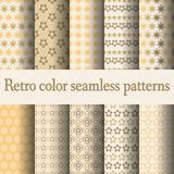 Retro kleuren naadloos patroon Royalty-vrije Stock Afbeelding