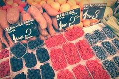 Retro kleurenmarkt Stock Afbeelding
