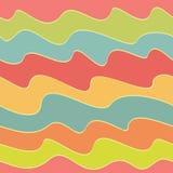 Retro kleurrijk golfpatroon Stock Foto's