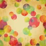 Retro Kleurrijk Naadloos Patroonbehang Stock Foto