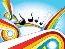 Retro kleurrijke behang van de muziek royalty-vrije illustratie