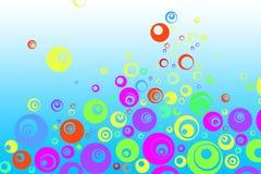 Retro kleurrijke bellen Stock Afbeeldingen