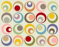 Retro kleurrijke cirkels Royalty-vrije Stock Foto's