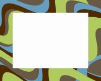 Retro kleurrijke golvende grens Royalty-vrije Stock Afbeelding